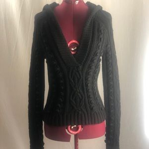 Moda International black hooded knit